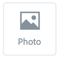 """Illustration of the """"Photo"""" button"""