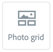 """Illustration of the """"Photo grid"""" Button"""