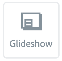"""Illustration of the """"Glideshow"""" Button"""
