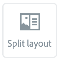 """Illustration of the """"Spit layout"""" Button"""